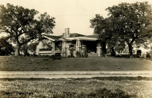 The Norwood Estate was built on a bluff near Travis Heights overlooking the Colorado River and downtown Austin. Click to enlarge. (Norwood Park Foundation photo)